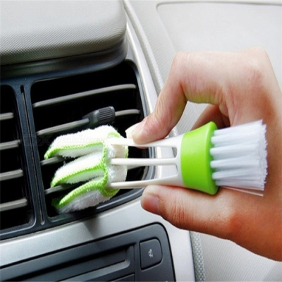 Car DIY Plastic Car Air Conditioning Vent Blinds Cleaning Brush Keyboard Dust Collector Computer Window Blinds Clean Tool White