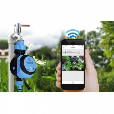 Automatic Intelligent Electronic Water Timer Smart Phone Remote Garden Irrigation Controller Watering System Solenoid Valve US PLUG