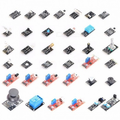 High Quality DIY 37-in-1 Sensor Module Kits Small Passive Buzzer Module for Arduino (Works With Official Arduino Boards) colorful