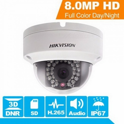 Origianl Hikvision H.265 CCTV Camera DS-2CD2185FWD-IS 8 Megapixesl Dome IP Camera Built-in SD Card Slot & Audio  2.8mm/1/2.5''