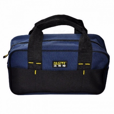Stylish Fashion 300g Men's Tool Bag Durable And Portable Tool Bags Factory Price Length 34 Cm 600D Oxford black