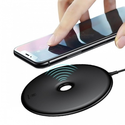 Baseus Portable Slim 15W Wireless Quick Fast Charging Charger for IPHONE X 8, Samsung Note8 S8 S7 S6 Edge black