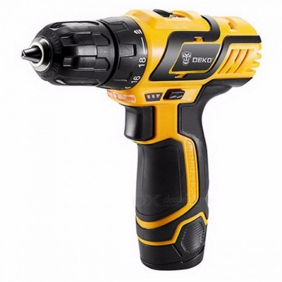 DEKO GCD10.8DU3 10.8V DC New Design Household Lithium-Ion Battery Cordless Drill / Driver Power Tool, Electric Mini Drill SET3