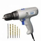 TASP Portable Premium Durable 220V 280W Electric Drill Torque Adjustable Screwdriver Set with 5m Cable  EU/Gray