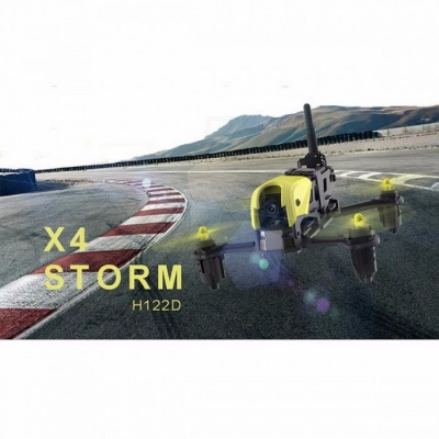Pre-sale Hubsan H122D X4 Storm RC Helicopter 5.8G FPV Micro Racing Drone with HD 720P Camera 3D Roll RC Quadcopter RTF Yellow(Goggles Version)
