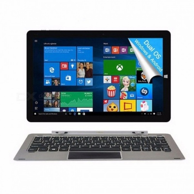 CHUWI Official! 12 Inches CHUWI Hi12 Tablet PC with Intel Atom Z8350 Windows 10, Android 5.1 Dual OS, 4GB RAM + 64GB ROM  Gray tablet PC/Tablet keyboard Pen