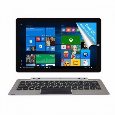 CHUWI Official! 12 Inches CHUWI Hi12 Tablet PC with Intel Atom Z8350 Windows 10, Android 5.1 Dual OS, 4GB RAM + 64GB ROM  Gray tablet PC/Add keyboard