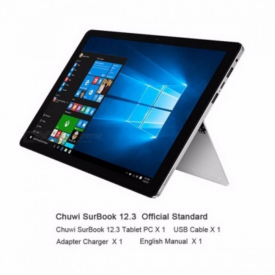 CHUWI Official Surbook Tablet PC Intel Apollo Lake N3450 Quad Core 6GB RAM 128GB ROM Windows 10 12.3 Inches 2K Screen   6GB RAM 128GB ROM/Add Black keyboard
