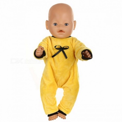 Cute Jackets and Jumpers Rompers Baby Born Doll Clothes, Fit 43cm Zapf Baby Born Doll, Children Birthday Gifts Yellow (539)
