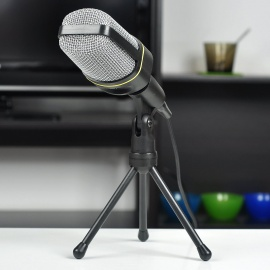 Desktop Microphone w/ TrIPOD for Laptop/PC - Black (2.1M)