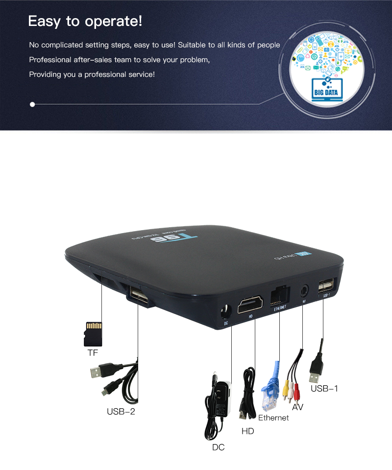Other Computers & Networking - T96 Android TV Box 4K Quad-core