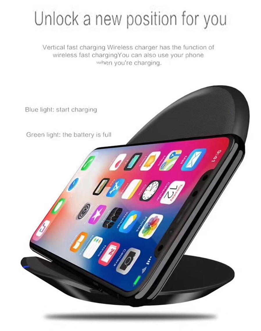 Cwxuan 10w Fast Wireless Charger Stand Qi Charging Pad For Samsung Original S8 Plus Galaxy S7 Edgefor S6 Edge And Note 5 With Any
