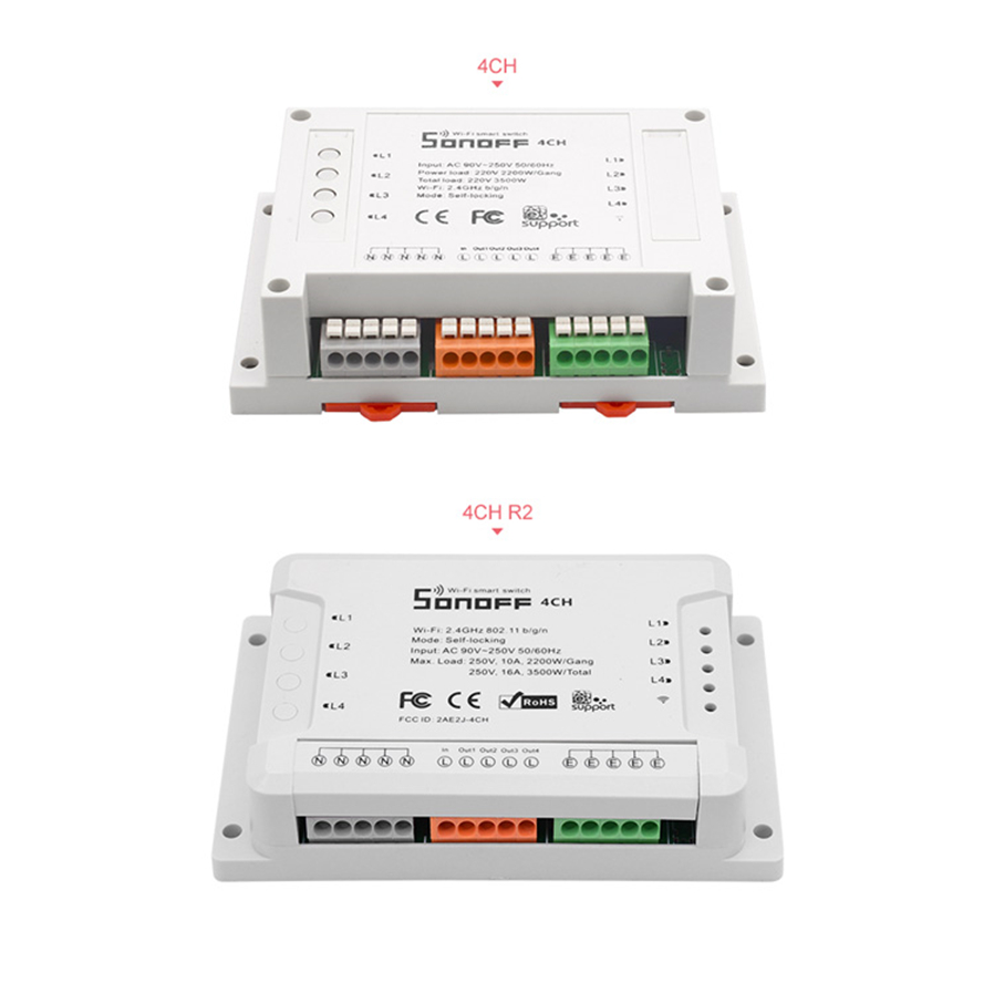 Home Automation - Sonoff 4CH R2 Advanced Smart Switch 4