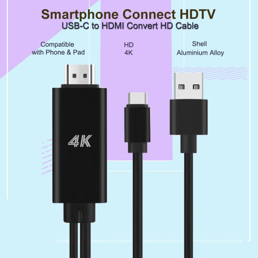 Adapters - USB Type C 3 1 to HDMI Cable Adapter 4K USB C HDMI