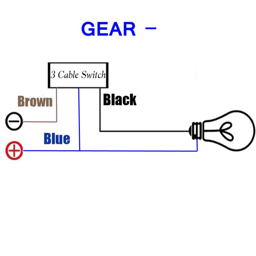 Other Motorcycle Parts Eastor Dc 12v 16a 2 Way Mode Gear Wired One Switch Wiring Diagram Diagramthe Is Same