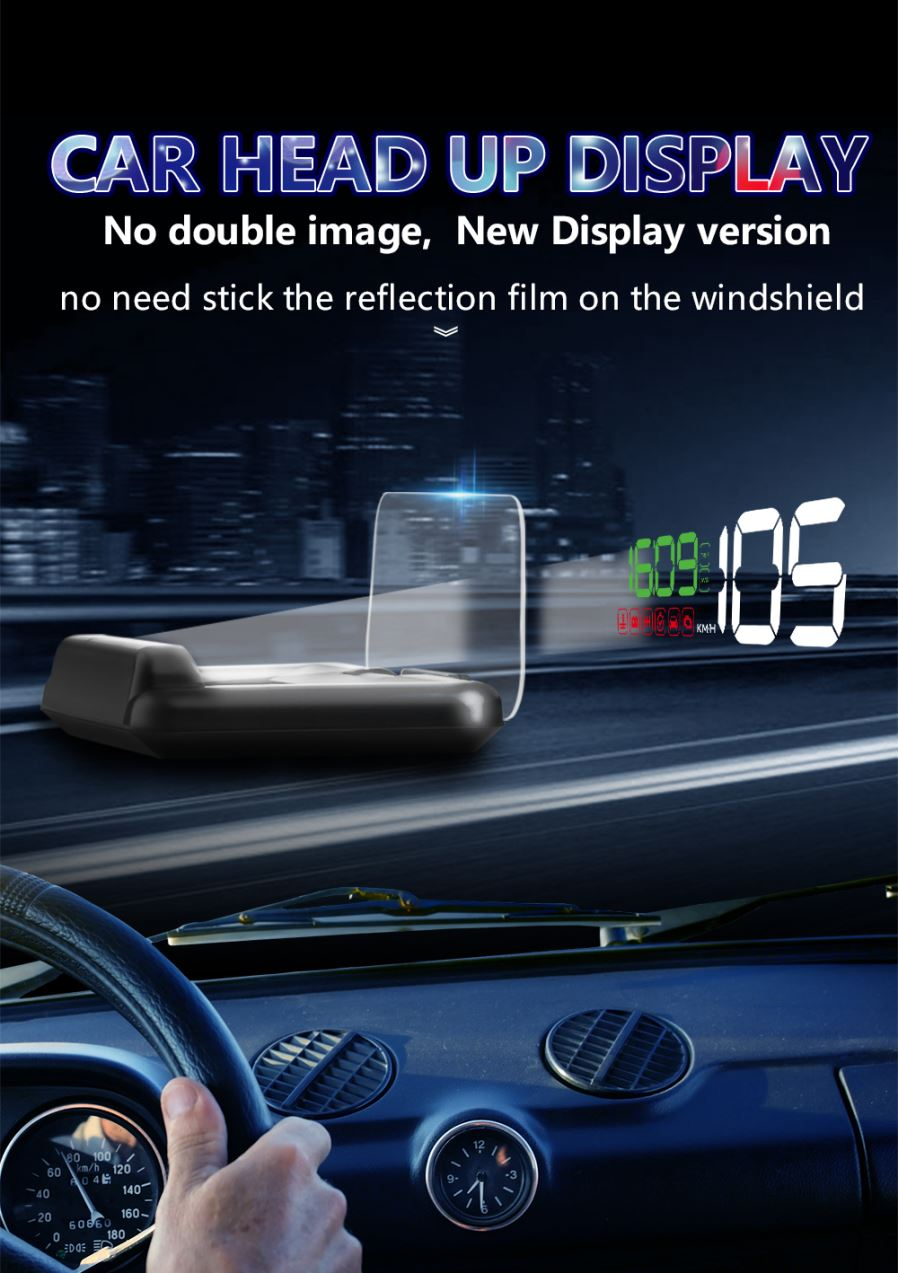 C500 Obd2 Hud Head Up Display With Mirror Projection