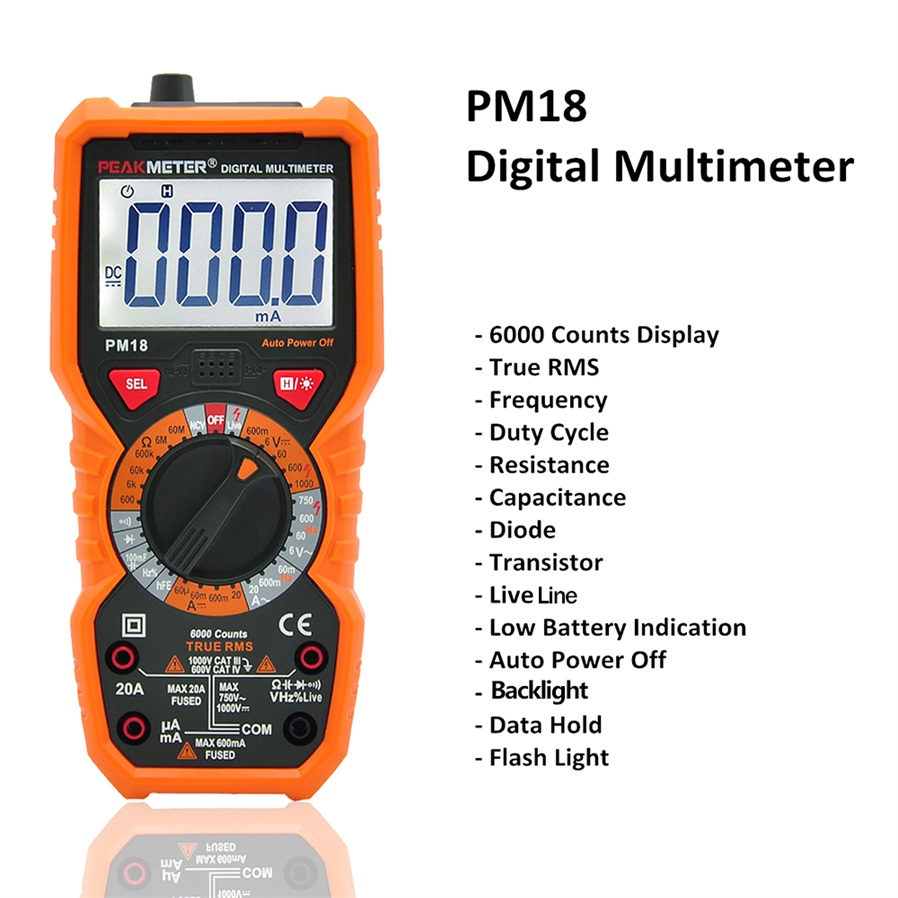 Peakmeter Pm18c High Precision Digital Multimeter Free Shipping Temperature Probe For Multi Meter K Type Thermocouple Range Max250conly Working Humidity 040c 80rh Storage 1060c 70rh