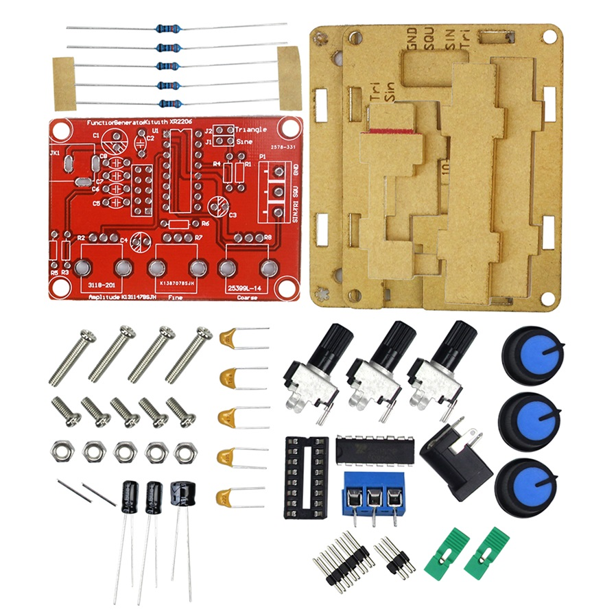 XR2206 Signal Generator Sine//Triangle//Square Wave Frequency Adjustable DIY UK
