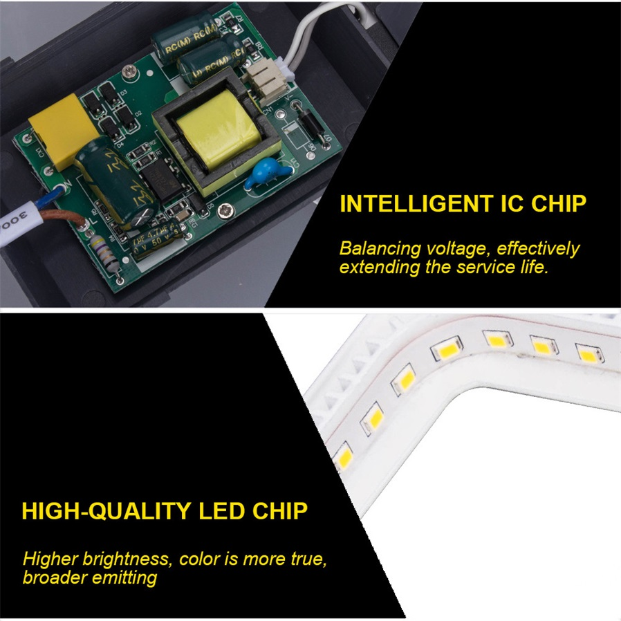 18w 600lm 3000k Led Warm White Square Panel Light Ac220240v Flashing Circuit P Marian Flashers General