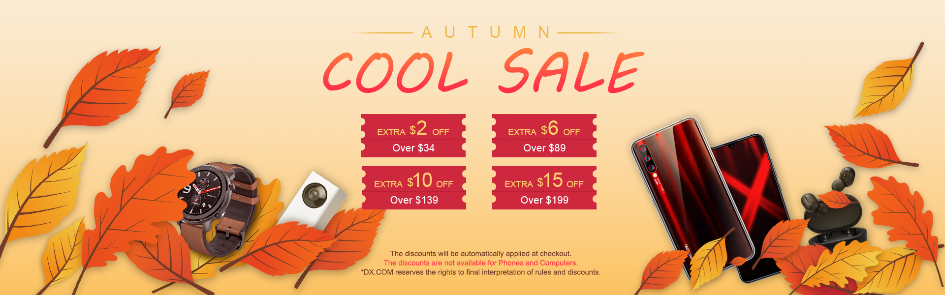 Extra $15 OFF! Autumn Cool Sale Has Star