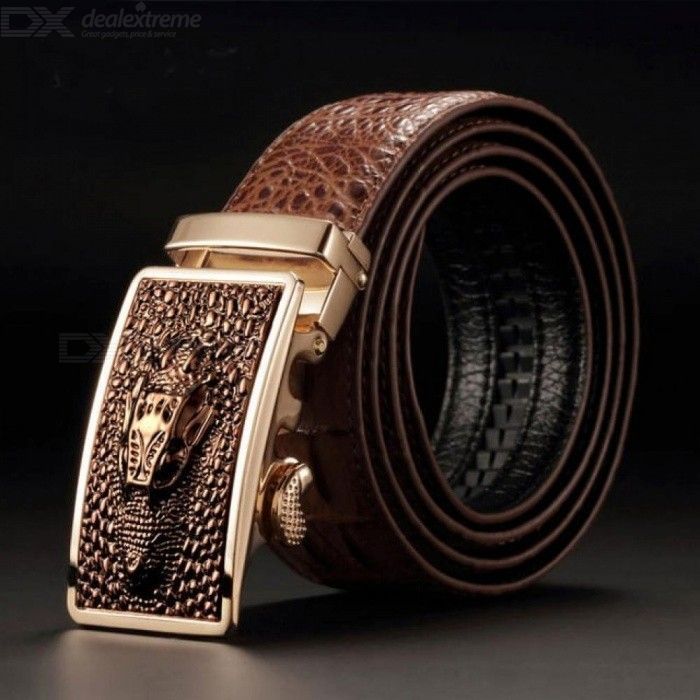 Luxury-Cow-Leather-Belts-for-Men-Good-Alligator-Pattern-Automatic-Buckle-Mens-Belt-Original-Brand-Coffee