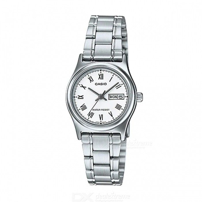 Casio LTP-V006D-7B Stainless Steel Analog Watch-Silver and White(Without Box)