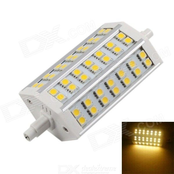 KINFIRE R7S 15W 1200lm SMD 5050 Warm White Halogen Lamp (90265V) -Silver + White