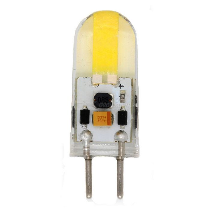 GY6.35 Dimmable 350lm 2-SMD1508 LED Warm White/Cold White Light Bulb (AC/DC12V)
