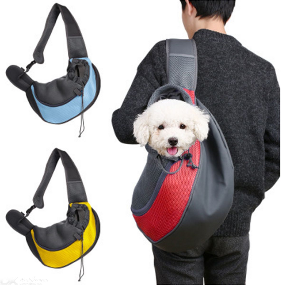 Small-Animal-Puppy-Dog-Cat-Pet-Carrier-Sling-Front-Mesh-Travel-Tote-Shoulder-Bag-Backpack-w-Pet-Silicone-Bowl