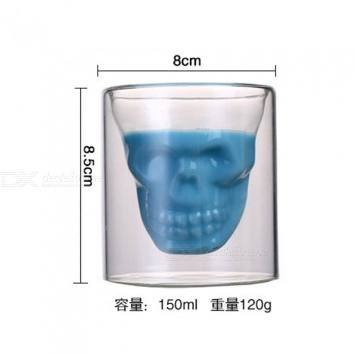 ZHAOYAO Skull Carving Style  Bar Glass Drinking Beer Mug Cups (5 PCS)