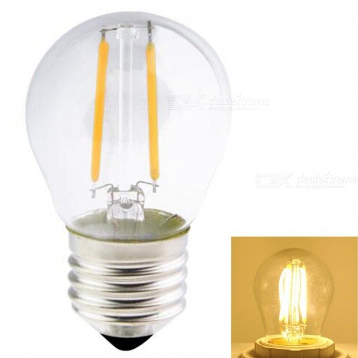 JRLED G45 E27 2W/4W/6W 200lm/400lm/600lm COB LED Warm White Retro Light Bulb (AC220V )
