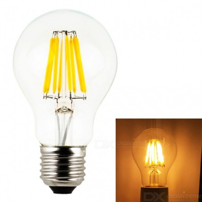 JRLED A60 E27 4W/6W/8W  COB LED Cool White/Warm White Retro Bulb (AC220V )