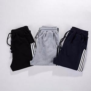 Mens Casual Patchwork Pants, Contrasting Mid-rise Sports Pants For Men