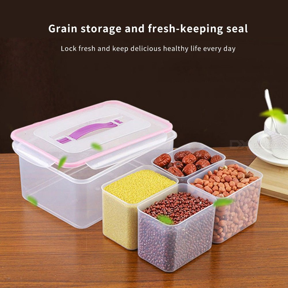 High-quality-Multi-Function-Food-Storage-Box-Sealed-Crisper-Refrigerator-Food-Box-Dry-Cargo-Sub-grid-Container