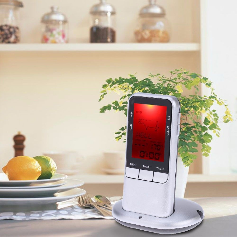 TS-78 Household Wireless Food Grill Thermometer With Time Mode W/1PC Sensor Probe, 1PC Base