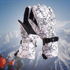 Winter Warm Windproof Bike Women Adjustable Skiing Motorcycle Riding Gloves Waterproof Full Finger Cycling Gloves