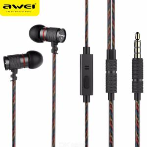 Awei ES-660i Noise Cancelling Wired Metal In-ear Sports Headset
