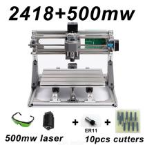 CNC2418-DIY-Laser-Engraving-PCB-Milling-Machine-Wood-Carving-Router(ER112b10Pcs-Cutters2b500mw-Laser2bProtect-Glasses)