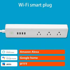 WiFi Smart Power Socket Voice Remote Control Timer Switch 15A For Alexa US Plug