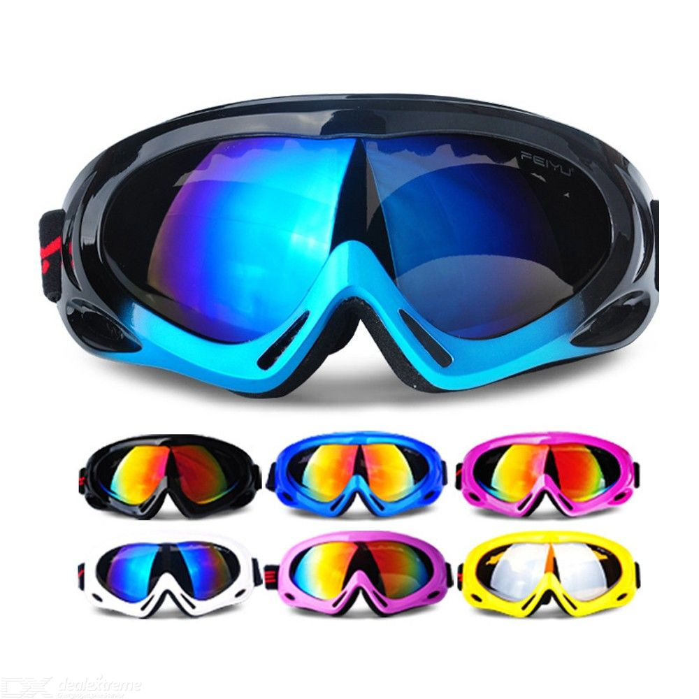 Dx coupon: 038 Unisex Windproof Spherical Lens Protective Skii Eyewear