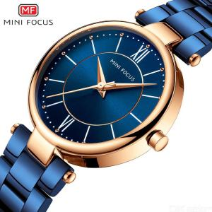 MINI FOCUS New Fashion Women's Watch Waterproof Quartz Wristwatches With Stainless Steel Strap MF0189L