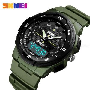 SKMEI 47mm Herren Casual Wasserdichte LED-Sportuhr Mit Dual Time Display 1454
