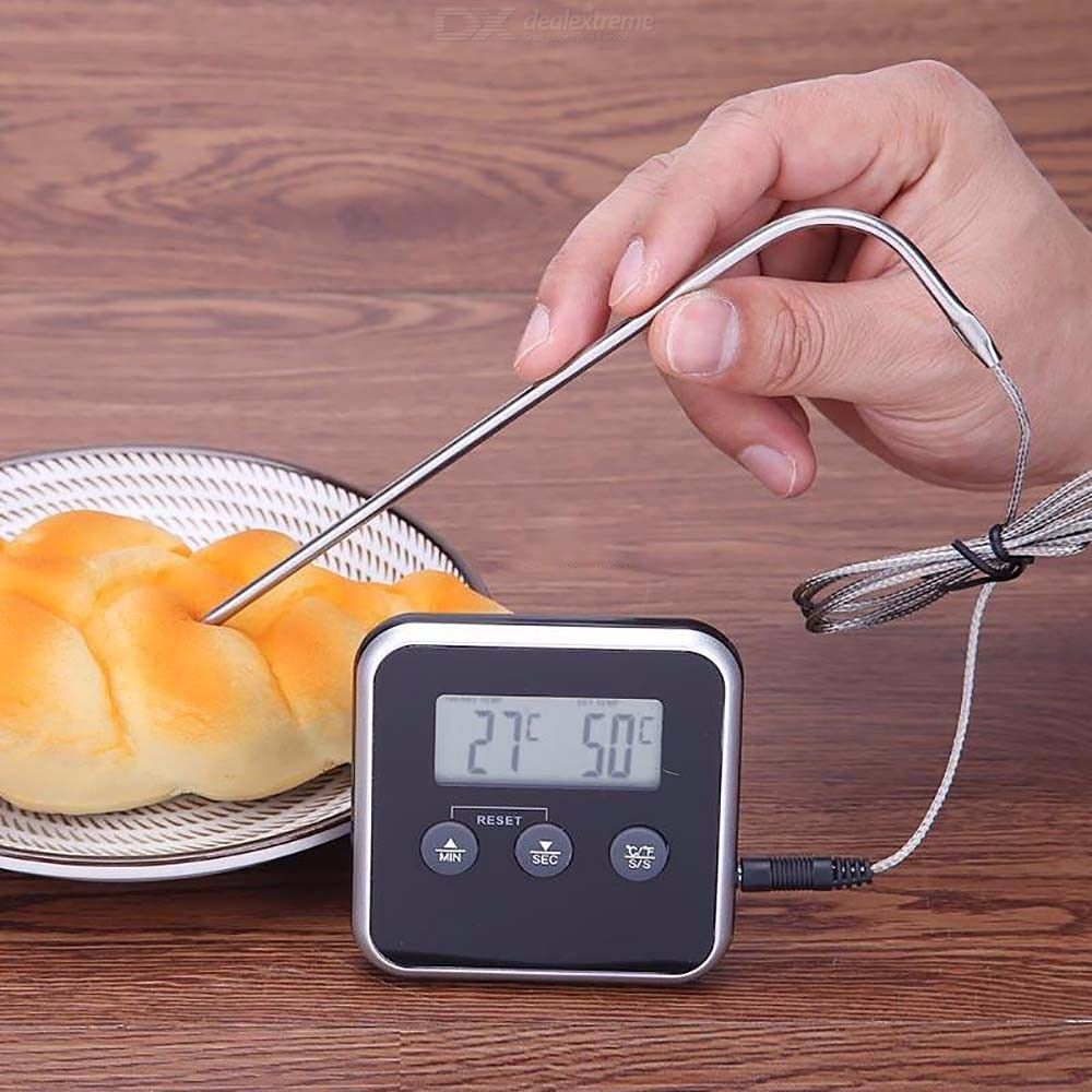 TS-BN56 Multi Function Household Food Grill Thermometer With Time Mode, W/1 PC Probe