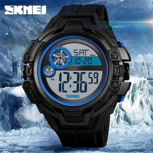 SKMEI 52mm Mens Waterproof LED Digital Sports Watch With Dual Time Display