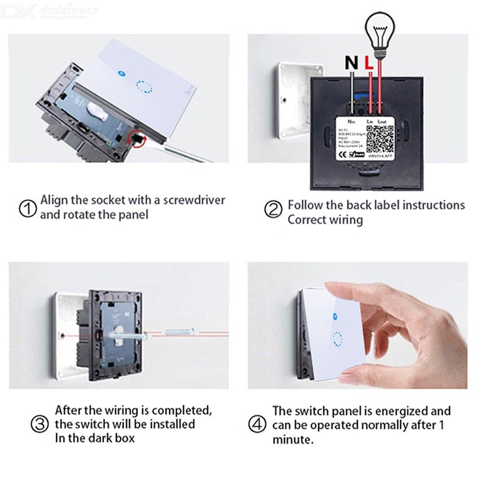 SONOFF T1 UK 3 Channel Phone Remote Control Timing Switch WIFI Smart Wall  Switch Panel