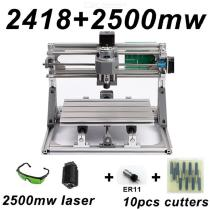 CNC2418-DIY-Laser-Engraving-PCB-Milling-Machine-Wood-Carving-Router(ER112b10Pcs-Cutters2b2500mw-Laser2bProtect-Glasses)