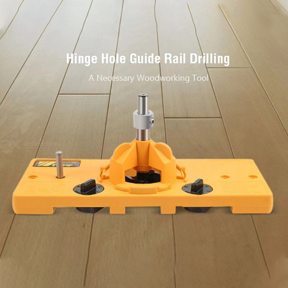 26mm / 35mm Hinge Hole Guide Rail Drilling Woodworking Tool Cup Style Hinge Boring Jig Drill Carpentry Joinery Kit