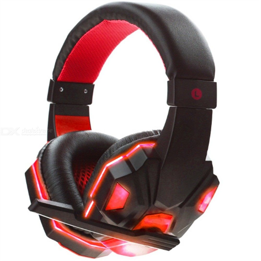 Soyto SY830MV Wired On-ear LED Gaming Headset With Noise Cancelling Mic