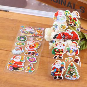 Merry Christmas Decorative Stickers Label Diary Stationery Album Stickers 1PCS Random Color