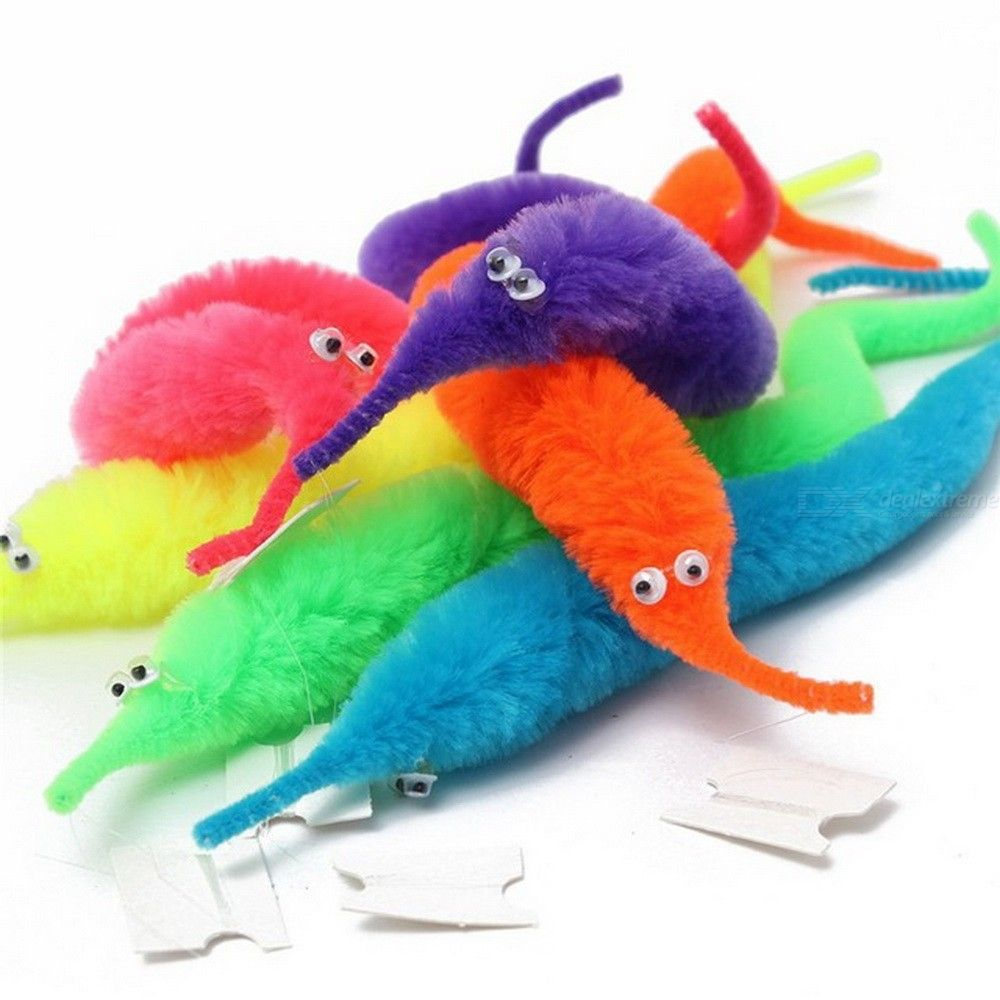 Magic Twisty Fuzzy Worm Wiggle Moving Sea Horse Kids Close-up Street Comedy Magic Tricks Toys Random Color